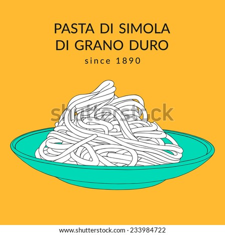 hand drawn spaghetti on the
