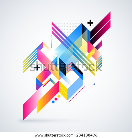 abstract geometric element with
