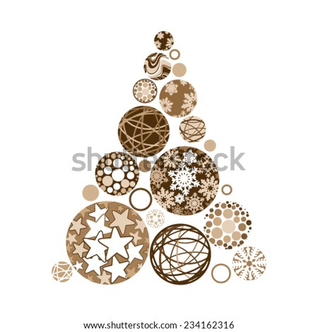 golden christmas tree made of