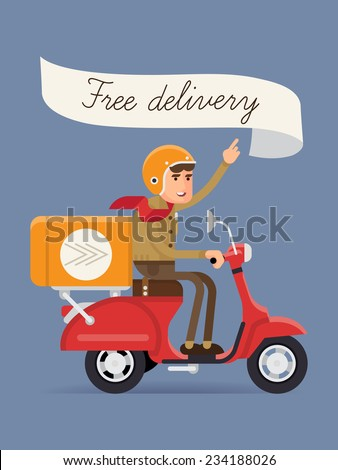 vector modern creative delivery