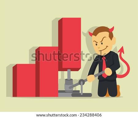businessman lying vector flat