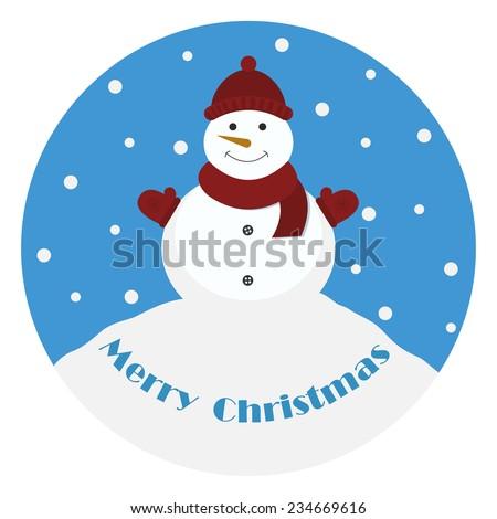 snowman marry christmas