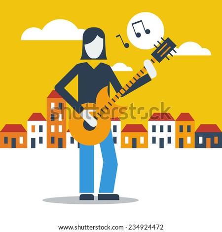 guitar street performer