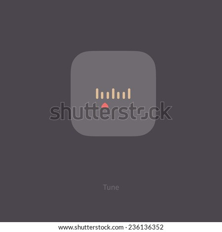 vector tuning icon flat design