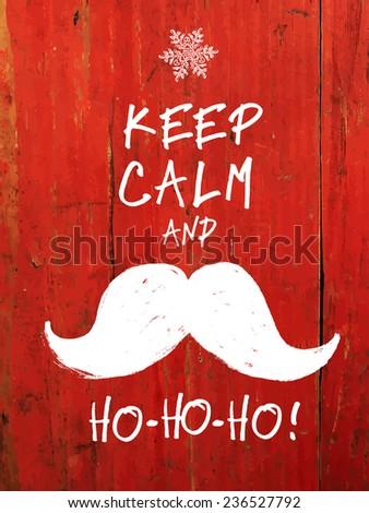 keep calm and white santa's