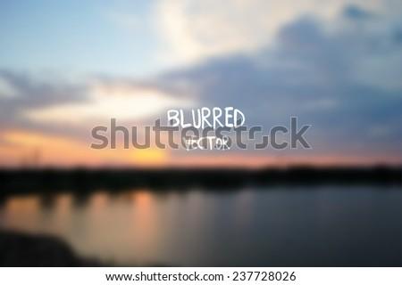 vector retro unfocused blur