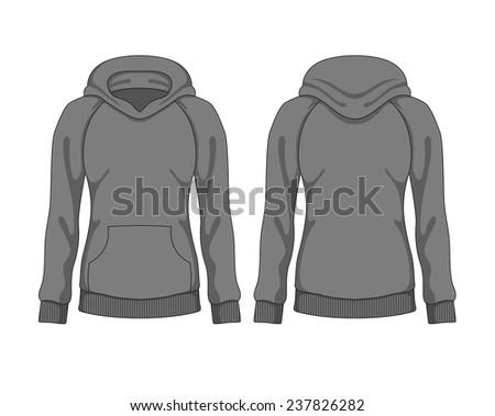 woman hoodie vector template