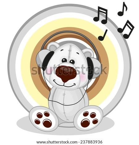 cute cartoon polar bear with