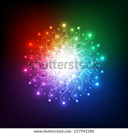 abstract aura light network