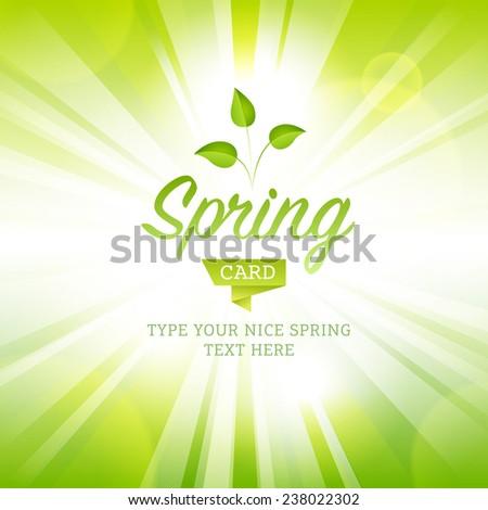 vector illustration spring