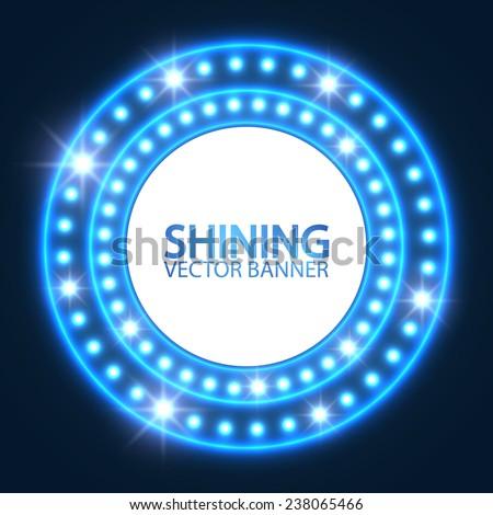shining retro light circle