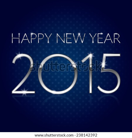 happy new year 2015   silver