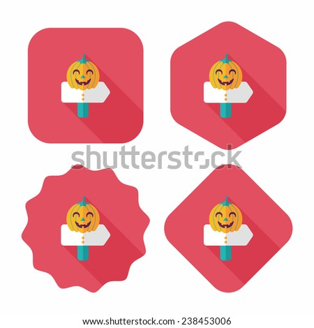 pumpkin sign flat icon with