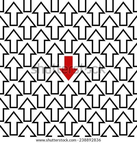 anti trend arrow pattern