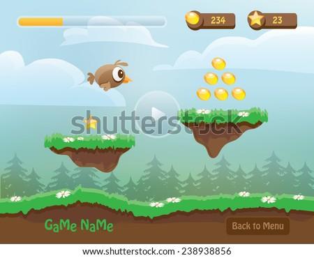 illustration of mobile app game