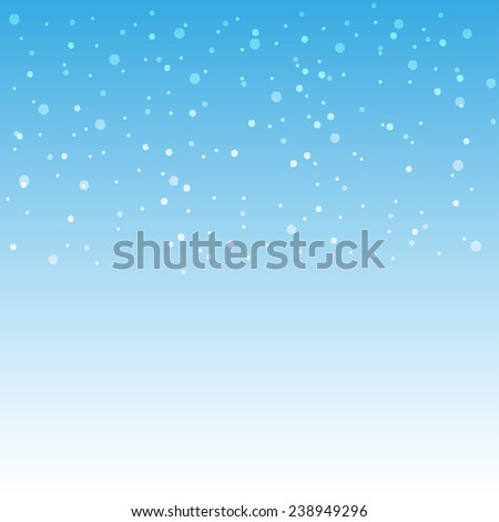 winter snow blue background
