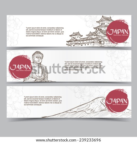 vector template banners hand