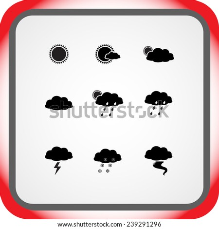 weather sign icons  vector