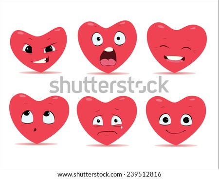 cartoon hearts emotions