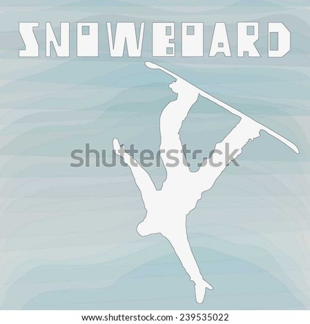 vector snowboad  can be used as