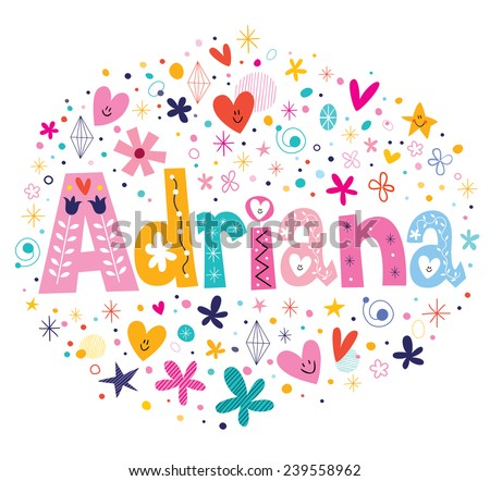 adriana female name design