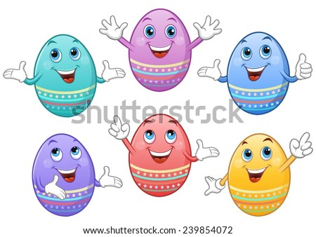 cheerful coloured easter eggs