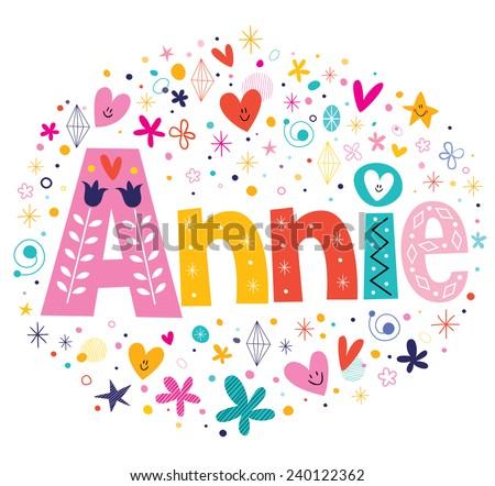 annie girls name decorative