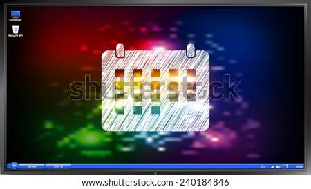 icon calendar on the screen