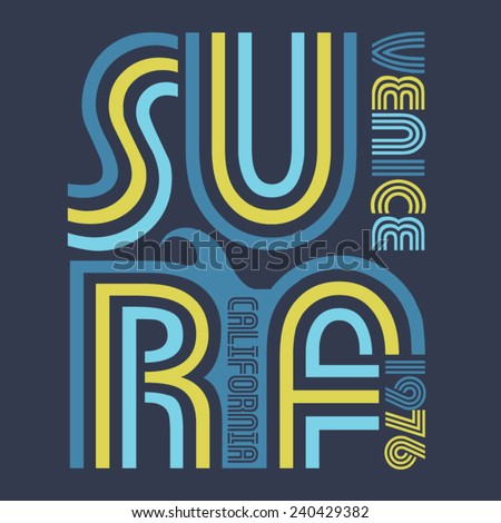 surf typography  t shirt
