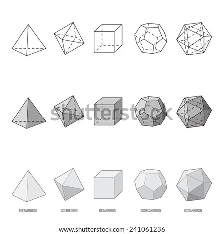 platonic solids  vector