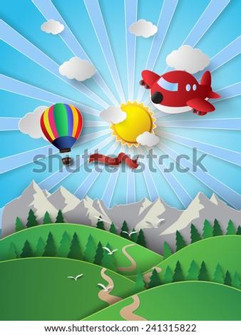 vector illustration sunlight on