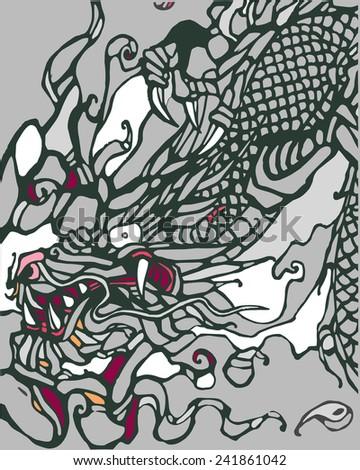 dragon a vector illustration