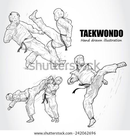 illustration of taekwondo hand
