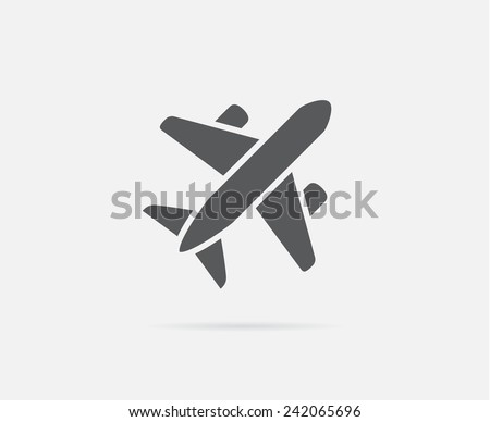aircraft or airplane icon