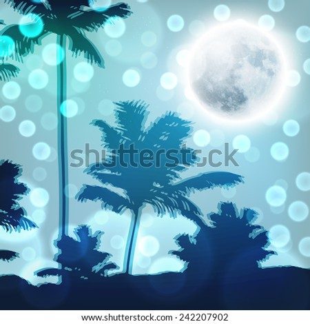landscape with palm trees and