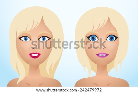 portrait of blonde hair women