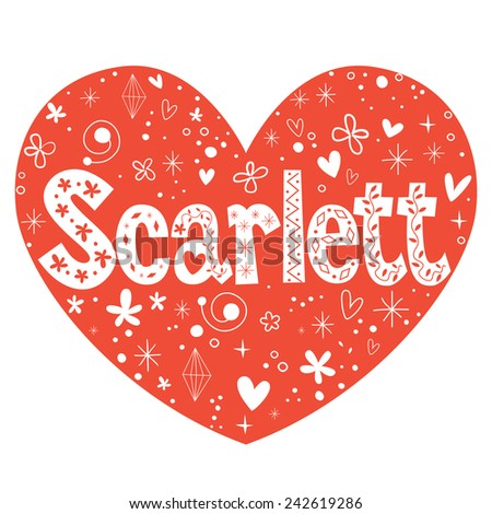 scarlett female name decorative