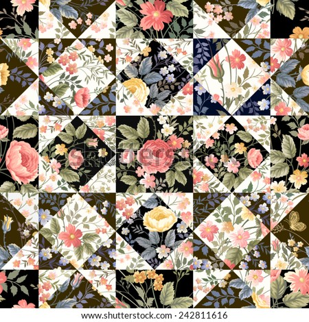 seamless patchwork pattern with