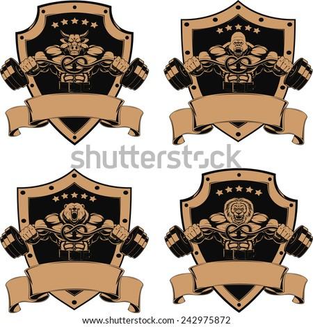 vector set  design medals