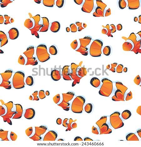 anemonefish  clownfish  white