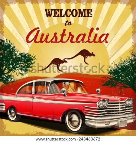 welcome to australia retro
