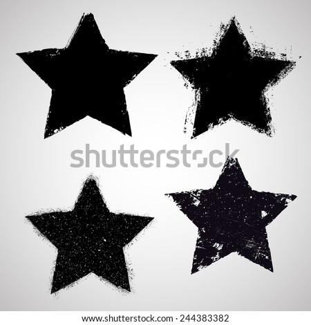 vector grunge stars collection