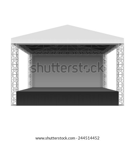 outdoor concert stage  truss