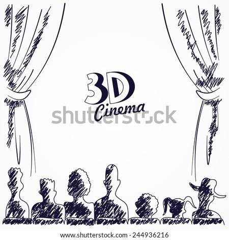 cinema audience back view
