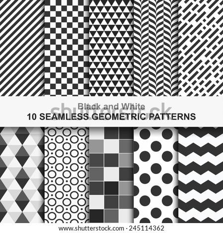 10 seamless geometric vector