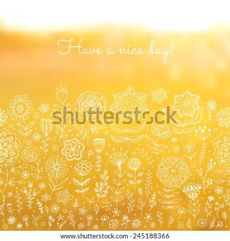 blurred floral background