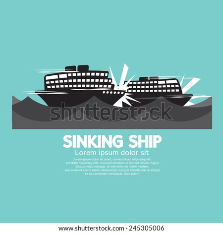 sinking ships black graphic