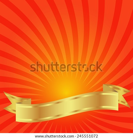 gold ribbon on a background of