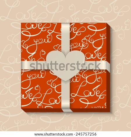 valentine day gift box with