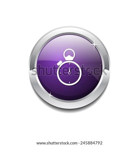stop watch purple vector icon